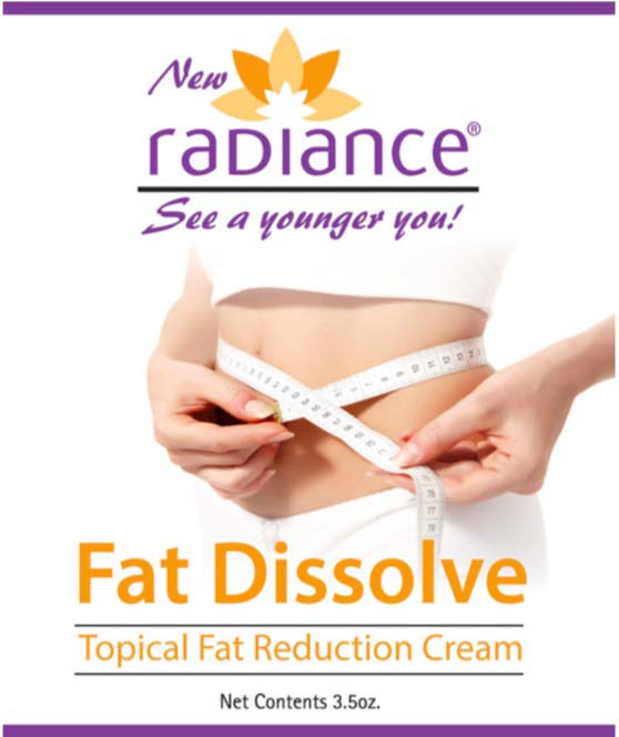 New Radiance Fat Dissolve Topical Fat Reduction Creme - Front